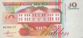 Surinam / Suriname P.137a 10 Gulden 1991 (1)