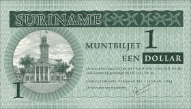 Surinam / Suriname P.155 1 Dollar 2004 (1)