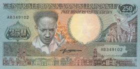 Surinam / Suriname P.134 250 Gulden 1988 (1)