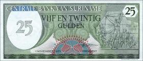 Surinam / Suriname P.127b 25 Gulden 1985 (1)
