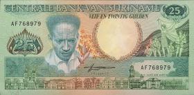 Surinam / Suriname P.132b 25 Gulden 1988 (1)