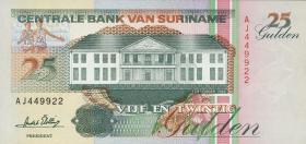 Surinam / Suriname P.138c 25 Gulden 1996 (1)