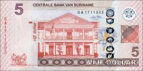 Surinam / Suriname P.162 5 Dollar (2010) (1)