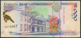 Surinam / Suriname P.143a 5000 Gulden 1997 (1)