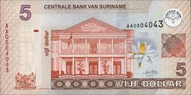 Surinam / Suriname P.157 5 Dollars 2004 (1)