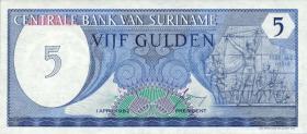 Surinam / Suriname P.125 5 Gulden 1982 (1)