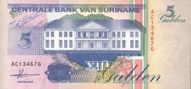 Surinam / Suriname P.136a 5 Gulden 1991 (1)