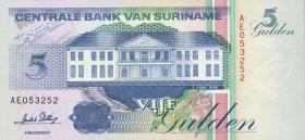 Surinam / Suriname P.136b 5 Gulden 1995 (1)