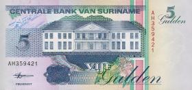 Surinam / Suriname P.136b 5 Gulden 1998 (1)