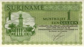 Surinam / Suriname P.116d 1 Gulden 1.11.1974 (1)