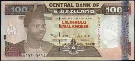 Swasiland / Swaziland P.32a 100 Emalangeni 2001 (1)