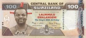 Swasiland / Swaziland P.34 100 Emalangeni 2008 Gedenkbanknote (1)