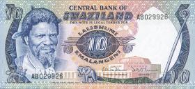 Swasiland / Swaziland P.10c 10 Emalangeni (1985) (1)