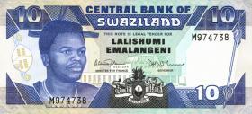 Swasiland / Swaziland P.20a 10 Emalangeni (1990) (1)