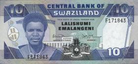 Swasiland / Swaziland P.15 10 Emalangeni (1986) (1)