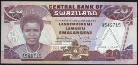 Swasiland / Swaziland P.17 20 Emalangeni 1989 Gedenkbanknote (1)