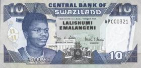 Swasiland / Swaziland P.29a 10 Emalangeni 2001 (1)