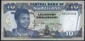 Swasiland / Swaziland P.29b 10 Emalangeni 2004 (1)