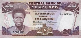 Swasiland / Swaziland P.16 20 Emalangeni (1986) (1)