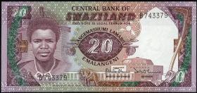 Swasiland / Swaziland P.12a 20 Emalangeni (1986) (1)