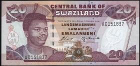 Swasiland / Swaziland P.25a 20 Emalangeni (1995) (1)