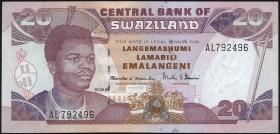 Swasiland / Swaziland P.25c 20 Emalangeni 1998 (1)