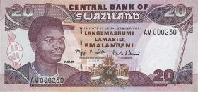 Swasiland / Swaziland P.30a 20 Emalangeni 2001 (1)