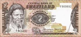 Swasiland / Swaziland P.08a 2 Emalangeni (1983) (1)