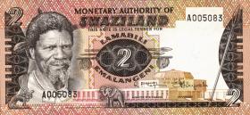 Swasiland / Swaziland P.02 2 Emalangeni (1974) (1)