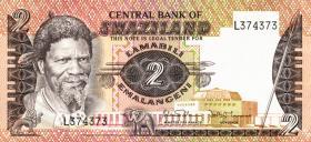 Swasiland / Swaziland P.08b 2 Emalangeni (1984) (1)