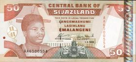 Swasiland / Swaziland P.26a 50 Emalangeni 1995 (1)