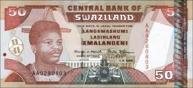 Swasiland / Swaziland P.26b 50 Emalangeni 1998 (1)