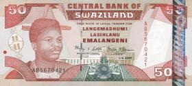 Swasiland / Swaziland P.31a 50 Emalangeni 2001 (1)