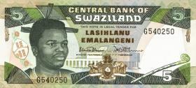 Swasiland / Swaziland P.19a 5 Emalangeni (1990) (1)