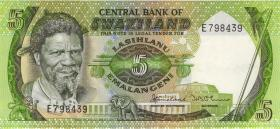 Swasiland / Swaziland P.09a 5 Emalangeni (1982) (1)