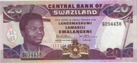 Swasiland / Swaziland P.21a 20 Emalangeni (1990) (1)