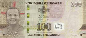 Swasiland / Swaziland P.neu 100 Emalangeni 2017 Polymer (1)