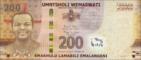 Swasiland / Swaziland P.neu 200 Emalangeni 2017 Polymer (1)