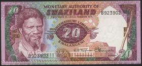 Swasiland / Swaziland P.05 20 Lilangeni (1974) (2/1)