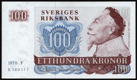 Schweden / Sweden P.54a 100 Kronen 1970 Gustav II. (1)