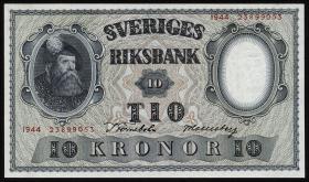 Schweden / Sweden P.40e 10 Kronen 1944  (1)