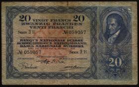 Schweiz / Switzerland P.39b 20 Franken 1930 (4)