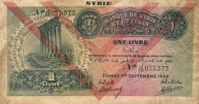 Syrien / Syria P.040e 1 Livre 1939 (3/4)