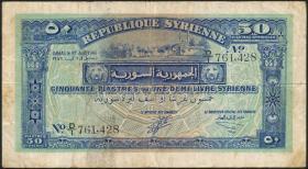 Syrien / Syria P.052 50 Piaster 1942 (3-)