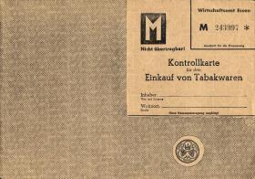 Tabakwaren Kontrollkarte für Männer (1-)