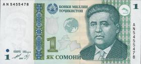 Tadschikistan / Tajikistan P.14A 1 Somoni 1999 (2010) (1)