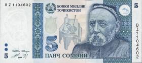 Tadschikistan / Tajikistan P.15 5 Somoni 1999 (2000) (1)