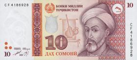 Tadschikistan / Tajikistan P.16 10 Somoni 1999 (2000) (1)