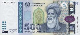 Tadschikistan / Tajikistan P.22 500 Somoni 2010 (1)