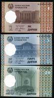 Tadschikistan / Tajikistan P.10-12 1 - 20 Diram 1999 (2000) (1)